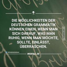 Die Möglichkeiten der deutschen Grammatik