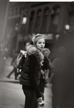 "Sasha Luss in ""Gray Scale"" by Peter Lindbergh for Neiman Marcus September 2014"