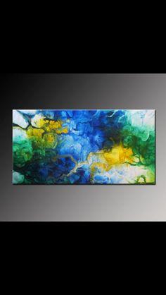 Original, contemporary abstract art by Viviana Fleing