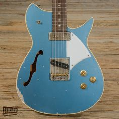 Fano RB6 Thinline Pelham Blue Medium Distress USED (s820)   Chicago Music Exchange