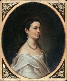 Mișu Popp – Portretul Sevastiei Borcea Folk Art, Roman, Mona Lisa, Fashion Portraits, American, Artist, Artwork, Work Of Art, Popular Art