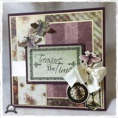 Couture Creations: Treasure the time card by Anita Enright | #couturecreationsaus #heartease #cards