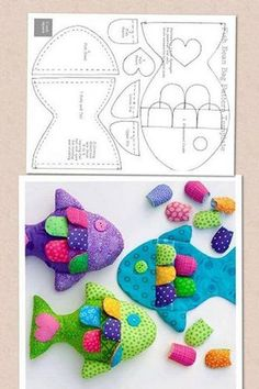 Amazing Home Sewing Crafts Ideas. Incredible Home Sewing Crafts Ideas. Baby Sewing Projects, Sewing For Kids, Diy Projects, Fish Crafts, Baby Crafts, Fabric Toys, Fabric Crafts, Handmade Baby, Handmade Toys
