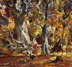 "poboh: ""Autumn Woodland, 1950, John Edward Costigan. (1888 - 1972) - Oil on Canvas - """