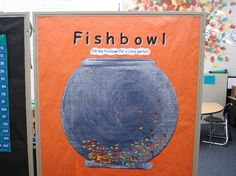 """Cute individual/classroom behavior management idea - students earn """"fish"""" for good work/behavior, which they can choose to add to the class fishbowl and earn a party, or possibly hold onto it for individual rewards"""