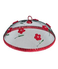 Red Flower Crochet Mesh Food Cover by Home Treats from Rex on #zulilyUK today!