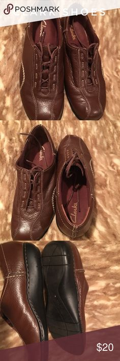 Clarks shoes - women's Beautiful soft leather Clark shoes. Very comfortable shoe Clarks Shoes Flats & Loafers