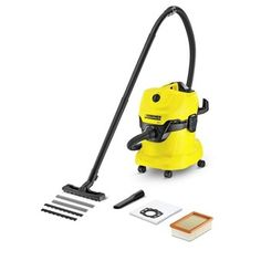 Karcher Multi-Purpose Wet Dry Vacuum Cleaner with Motor, Space-Saving Design - Cat store galore Wet Dry Vacuum Cleaner, Basement Entrance, Energy Use, Filter, Plastic Containers, How To Make Light, Carpet Cleaners, Tricycle, United Kingdom
