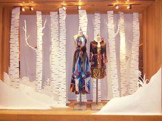 paper winter window display | Anthropologie Visual Display Coordinator Internship on Behance