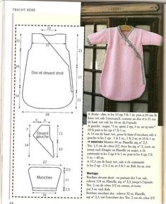 images attach d 1 133 593 Baby Clothes Patterns, Kids Patterns, Clothing Patterns, Sewing Patterns, Dress Patterns, Knitting Patterns, Baby Sewing Projects, Sewing For Kids, Sewing Tutorials