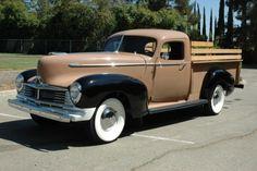 1947 Hudson Super Six Pick-up. Vintage Pickup Trucks, Classic Pickup Trucks, Antique Trucks, Antique Cars, Vintage Cars, Vintage Auto, Dually Trucks, Chevy Trucks, Lifted Chevy