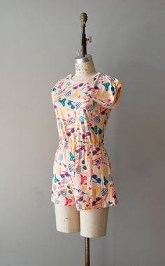 80s romper from 'DearGolden' on #Etsy