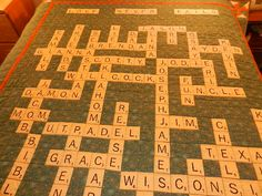 Inspired by Daylesewblessed's Scrabble Quilt