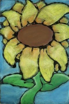 a faithful attempt: Glue Line Chalk Pastel Sunflowers.use this technique for O'Keeffe flowers? Fall Art Projects, Classroom Art Projects, Art Classroom, Chalk Pastel Art, Chalk Pastels, Chalk Art, Vincent Van Gogh, Glue Art, 6th Grade Art