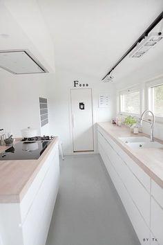 White wash houten keukenblad