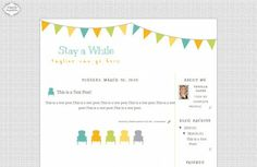 Free Stay Awhile Template from The Cutest Blog on the Block.