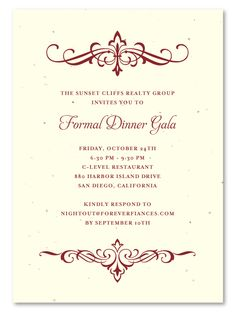 34 best plantable gala business invitations images on pinterest in
