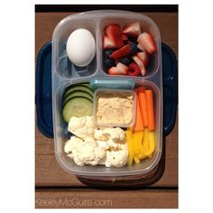 """My healthy nibbles for today"" packed in @EasyLunchboxes via keeleymcguire.com #momfood #worklunch"