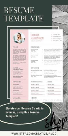 2020 Professional Resume Templates CV Bundle Compatible