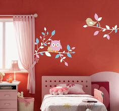 Vinyl Wall Decals by AirlieCreations. Instead of the hassle of painting designs on the wall, these decals are simple to apply and even easier to remove.