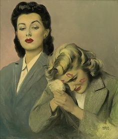 Andrew Loomis - vintage lesbian art    I have this problem a lot. This and fruit-punch mouth.