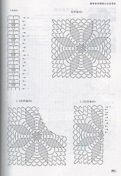 Moms Hand knitting Little Princess Sweater 2015 - 轻描淡写的日志 - 网易博客 Crochet Square Patterns, Crochet Diagram, Crochet Squares, Crochet Granny, Crochet Motif, Crochet Flowers, Crochet Stitches, Crochet Shawl, Cute Crochet