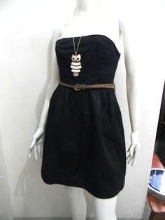 wengpot Nwot Auth. Forever 21 black tube mini dress small- medium slim