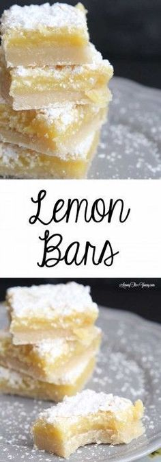 Among the Young: The best Lemon Bars - watch crust closely to not brown. Don't bake at Bake at 350 for about 15 min or less. This is the recipe I've had for 40 years and the best lemon bars I've ever tasted! Lemon Desserts, Lemon Recipes, Just Desserts, Baking Recipes, Sweet Recipes, Cookie Recipes, Delicious Desserts, Dessert Recipes, Yummy Food