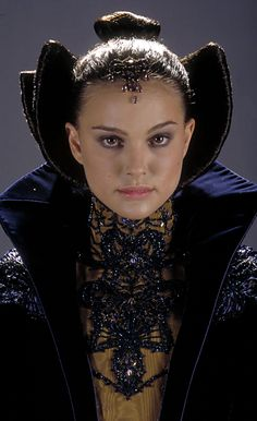 Senator Padme Amidala, 'StarWars Episode II: Attack of the Clones'. 'Senate Address' costume detail, designed by Trisha Biggar.