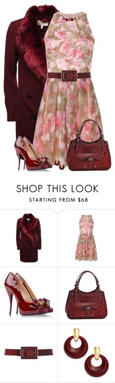 """Pink and Burgundy"" by daiscat ❤ liked on Polyvore featuring Twenty8Twelve, Matthew Williamson, Viktor & Rolf, Longchamp, Karen Millen, Kenneth Jay Lane, Annoushka, women's clothing, women and female"