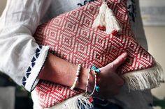 boho clutch, ethnic pattern, boho chic, tassels, fringe clutch, festival bag