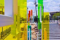 Kaleidoscopic Public Art Transforms Colorado Train Station