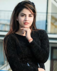 Beautiful Love Images, Beautiful Girl In India, Desi Girl Selfie, Indian Beauty, Turtle Neck, Photo And Video, Coat, Face, Sweaters
