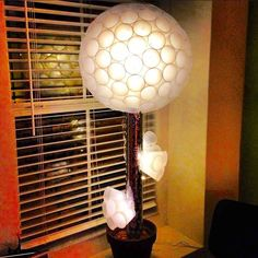 love this installation by He mounted it on a cylinder that goes into a clay pot. Clay Pots, Table Lamp, Display, Home Decor, Floor Space, Table Lamps, Decoration Home, Billboard, Room Decor