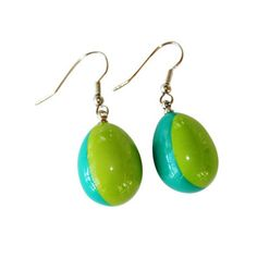 Candyfloss Pebble Earrings - Turquoisee Mix   Ruby Olive Jewellery