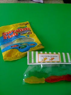 March 2nd: Dr. Seuss Day - Classroom Treat  Swedish Fish and Topper for Baggies