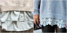 Суперидея для барышень с фантазией: пара надрезов на старом свитере — неповторимый наряд готов! — SmileTer