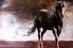 Horse Art  JOURNEY by jennifer mack  40X60  Acrylic on Canvas SOLD www.jmackfineart.com
