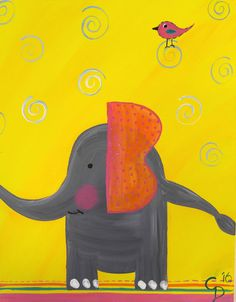Elephant Friends Group Of Friends, Big Little, Kids Events, Our Kids, Elephant, Symbols, Painting, Art, Art Background