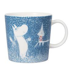 Moomin Winter mug 2018 – Light Snowfall - The Official Moomin Shop Moomin Shop, Moomin Mugs, Helsinki, Moomin Valley, Tove Jansson, Winter Light, Winter's Tale, Cute Mugs, Winter House