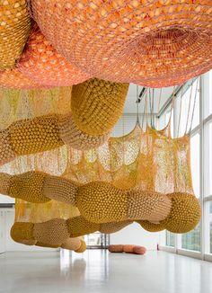 ernesto neto for VUITTON Tokyo -knit art