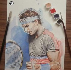 Nadal Rafa Nadal, Tennis World, Tennis Workout, Workout Ideas, Tennis Players, My Drawings, Athletes, Clay, King
