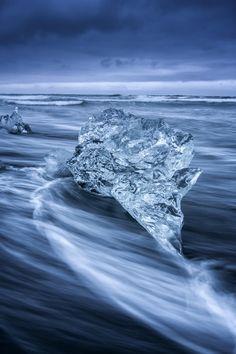 Diamond Ice, Black Beach, Iceland,
