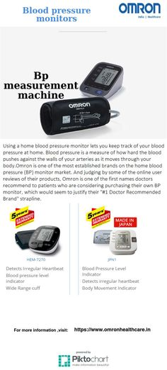Explore Omron latest #Bloodpressuremonitors devices and pick the right one for you.