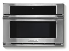 Clear up counter space and visual blight with a built-in microwave.