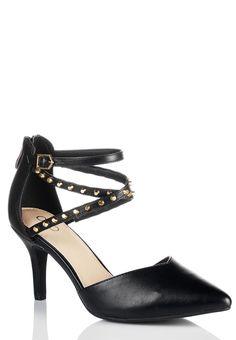 #edgy #Studded Ankle Strap Pumps #CatoFashions #holidaystyle #MyCatoStyle
