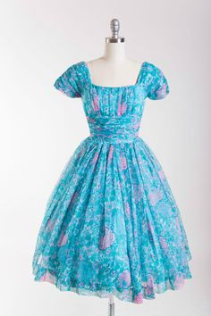 1950s Vintage Party Dress One More for My Baby by stutterinmama