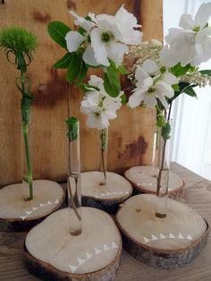 Pas de vase Avril Tsé Tsé à la maison mais je me console avec mes petits tubes à essai... Bonne semaine !