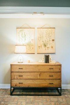 how to make botanical print wall hangings