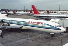 Following the Northwest/Republic merger, at MEM, November, 1986 Boeing 727, Boeing Aircraft, Passenger Aircraft, Republic Airlines, Private Jet Interior, Northwest Airlines, Helicopter Plane, Luxury Private Jets, Airline Logo